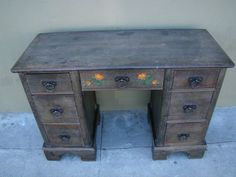 Monterey Classic California Colonial Old Wood Desk SOLD F286 ...
