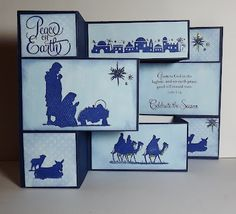 Nativity Tri-Fold Christmas Card with Instructions