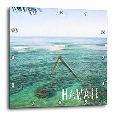 3dRose dpp_30920_1 Kauai Hawaii Ocean and Sky Wall Clock 10 by 10Inch *** More info could be found at the image url.