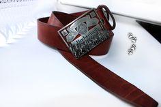 "4lapki ремень натуральная кожа пряжка ""Bergamot""  США / leather belt ""Bergamot"" buckle"