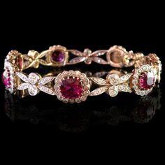 Edwardian era Bracelet, 1910 Rubies and Diamonds