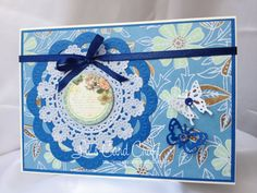Handmade Card  Blank Card with Butterflies by LilsCardCraft, $4.50