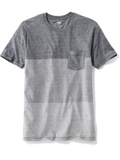 Striped Colorblock Pocket Tee for Men