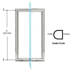 - CRL Polished Chrome RM Series Flat Outside Surface/Round Tubing Inside Back-to-Back Pull Handle Brushed Nickel, Polished Nickel, Shower Door Handles, Frameless Shower Doors, Shower Screen, Wardrobe Doors, Bathroom Hardware, Glass Shower, The Outsiders