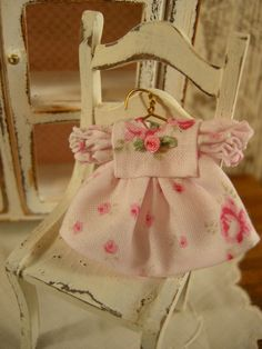 Miniature dollhouse baby dress