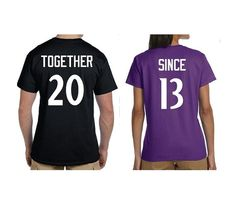 Together Since Couples Shirts - Choose Your Teams Font & Colors
