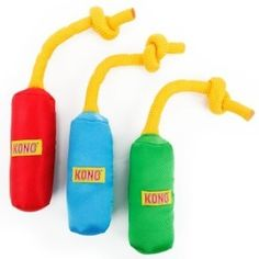 KONG Brand Rope Cylinder FUNSTERS Toy for Dogs Puppies X-Small Rope Floats