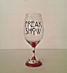 """This Hand-Painted Wine Glass:   Community Post: 19 Creepily Perfect Etsy Items For Every """"American Horror Story"""" Fan"""