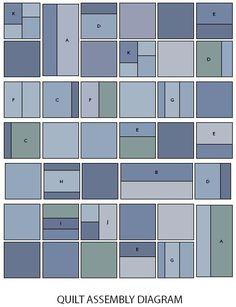 Blue Jeans Quilt layout