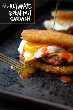 What does the Ultimate Breakfast Sandwich look like? To me, it's all about homemade breakfast sausage, sandwiched between two crispy hash browns.