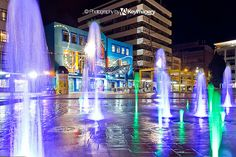 Fountain in Garden Place, Hamilton, NZ, via Flickr.