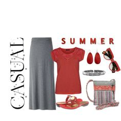 inexpensive gray maxi skirt outfit- casual and comfy