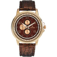 Louis Arden LA7280 Rose Gold-Tone Watch ($13) ❤ liked on Polyvore featuring jewelry, watches, gold, bezel jewelry, leather-strap watches, rose gold tone jewelry, stainless steel wrist watch and rose gold tone watches