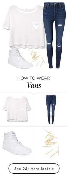 """Back at it again with the white vans"" by josie-posie on Polyvore featuring MANGO, Miss Selfridge and Vans"