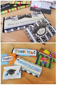 Darling Doodles: All Occasion Gift Card Holders and Candy Bar Wraps