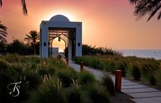 Sunset in Oman. Chedi Muscat | Luxury Hotels Travel+Style