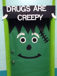 My drug awareness week door! | School | Pinterest | Red ...