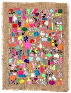 Textile Art by Elizabeth Pawle  Cannot even handle how much I love this artist.
