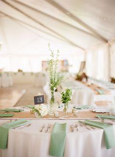 Sage wedding details: http://www.stylemepretty.com/little-black-book-blog/2014/11/06/rustic-missouri-farm-wedding/ | Photography: Lisa Hessel - http://lisahesselphotography.com/