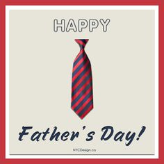 New York Web Design Studio, New York, NY: Free Printable Father's Day Greeting Cards - Red, Navy Blue Striped Tie