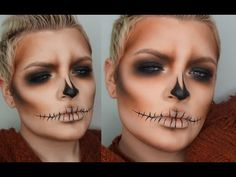 Are you looking for ideas for your Halloween make-up? Browse around this website for cute Halloween makeup looks. Guys Halloween Makeup, Halloween Makeup Sugar Skull, Halloween Ideas, Halloween Costumes, Halloween Parties, Halloween 2019, Halloween Stuff, Scary Halloween, Skeleton Makeup Tutorial