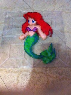 Little Mermaid Perler Bead Sprite by WonderlandBoutiquee on Etsy, $10.00