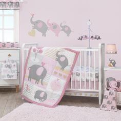 online shopping for Bedtime Originals Eloise Crib Bedding Set, Pink from top store. See new offer for Bedtime Originals Eloise Crib Bedding Set, Pink Elephant Nursery Girl, Nursery Crib, Nursery Wall Decals, Girl Nursery, Nursery Ideas, Elephant Baby, Nursery Themes, Elephant Gifts, Girl Room
