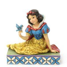 Figurine Blanche Neige et l'oiseau