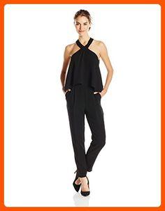 Trina Turk Women's Micaela Classic Crepe Jumpsuit, Black, 6 - All about women (*Amazon Partner-Link)