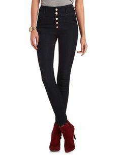 Marceline Cosplay > High Waist Super Skinny Jean: Charlotte Russe