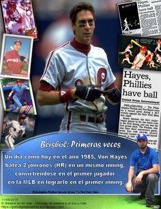 Von Hayes, Philadelphia Phillies, 2 homers, MLB
