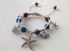 seashells starfish ocean bracelet