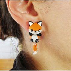Fox Clinging Ears fox,zorro,cuelga orejas,animal,pendientes, earrings,