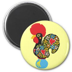 """VENDIDO! Sold this """"Famous Rooster of Barcelos Nr 06 Magnet"""", to a customer from Connecticut! OBRIGADA - thanks :)"""