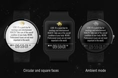 Start making plans and living your confident life.  #smartwatch #androidwear #wearable #technology #watchface