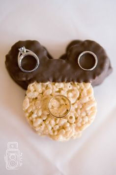 Mickey rice krispy treat ring shot - Wedding Spotlight: Brooke + Tbo | Magical Day Weddings | A Wedding Atlas Fan Site for Disney Weddings