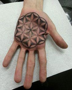 Mandala on Palm http://tattooideas247.com/mandala-on-palm/