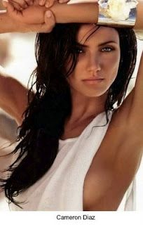 Cameron Diaz ....dark hair and tan skin.