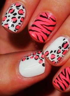 30 Best and Cute Multicolor Nail Art Designs 2015 #nailartdesigns2015 #multicolornails #naildesigns