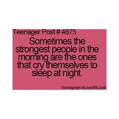 TEENAGER POST ❤ insomnia