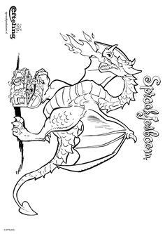 Kleurplaat Sprookjesboom Efteling- Draak bewaakt zijn schatkist (geprint) Colouring Pages, Coloring Sheets, Coloring Pages For Kids, Kids Coloring, Princess Theme, Color Pencil Art, Animal Party, Colored Pencils, Knight