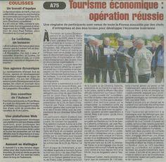 """Un article sur l'opération """"Road Show de l'A75"""" dans la Lozère Nouvelle du 14 juin 2013. #Lozère #Economie"""