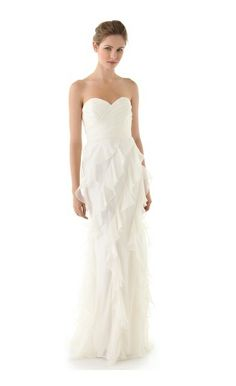 If you're traveling long and far to tie the knot, why not keep the dress simple? Here is a beautiful #chiffon dress that can be purchased on shopbop.com for less than $800!