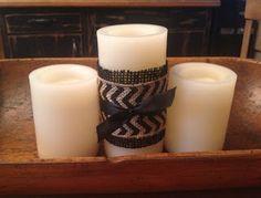 Pretty candle craft