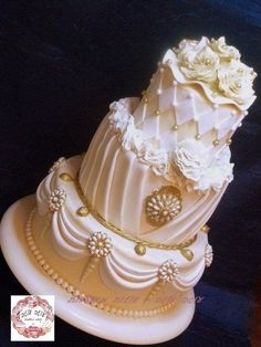 Bling Bling 'Over the Top' 3-tier wedding cake