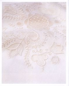 white embroidery flower hardanger pattern by LibraryPatterns