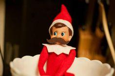 Elf on the Shelf idea - mustache Elf