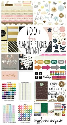 Hundred of FREE Printable Planner Stickers by My Planner Envy                                                                                                                                                                                 もっと見る