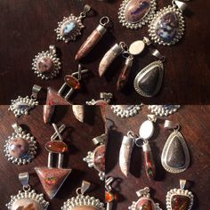 Check out our selection of pendants: fire opal, fire agate, amber, quartz and more. All set in sterling silver. Great summer fashion.