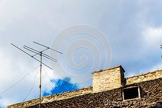 Antenna On Roof B - Download From Over 63 Million High Quality Stock Photos, Images, Vectors. Sign up for FREE today. Image: 97058144